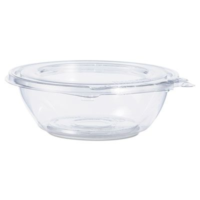 "Dart CTR8BF 8 oz SafeSeal Plastic Tamper-Resistant Bowl Containers, 5-1/2"" x 1-7/10"", Clear - 240 / Case"