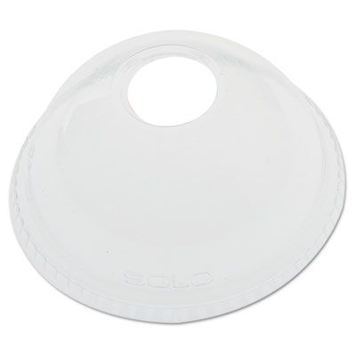 Dart Solo DLR626 PET Plastic Dome Lid for Ultra Clear 16-24 oz Cold Cups, Clear - 1000 / Case