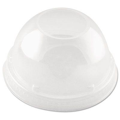 Dart Solo DLR662 Cappuccino Plastic Dome Sipper Lids for 16 oz Cups, Clear - 1000 / Case