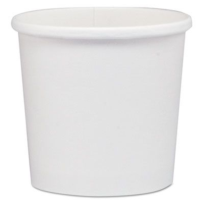 Solo HS4125 12 oz Flexstyle Paper Carryout Containers, White - 500 / Case