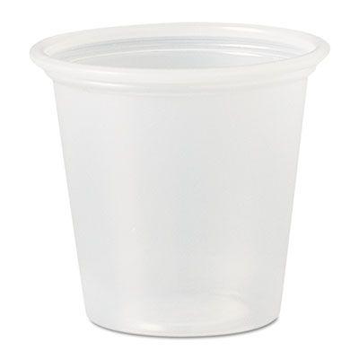 Dart Solo P125N 1.25 oz Plastic Portion Cups, Polystyrene, Translucent - 2500 / Case
