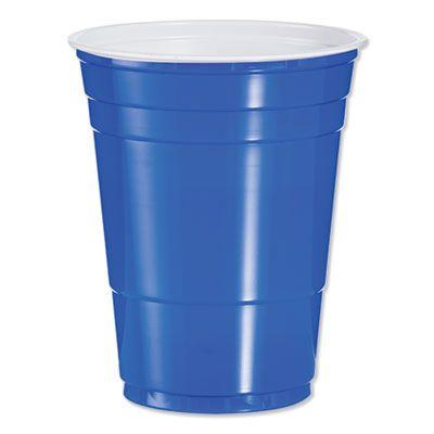 Dart Solo P16B 16 oz Plastic Party Cold Cups, Blue - 1000 / Case