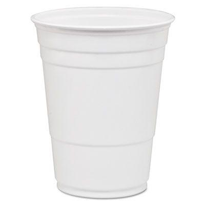 Dart Solo P16W 16-18 oz Plastic Party Cold Drink Cups, White - 1000 / Case