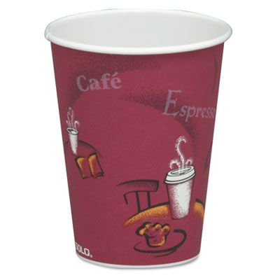 Solo 378SI-0041 Bistro 8 oz Paper Hot Cups, Poly-Lined - 1000 / Case