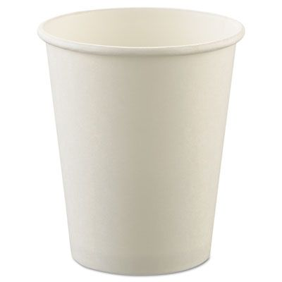 Solo U508N-02050 8 oz Paper Casino Coin Cups, Uncoated, White - 1000 / Case