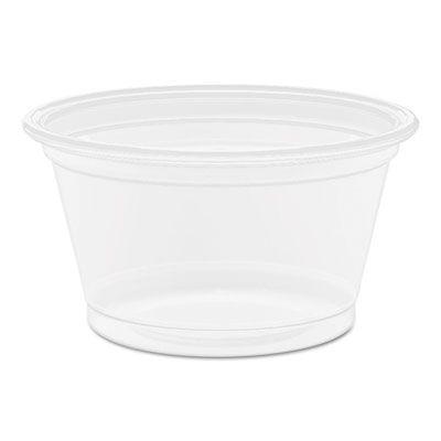 Dart 075PC Conex Complements 0.75 oz Plastic Portion / Medicine Cups, Polypropylene, Clear - 2500 / Case