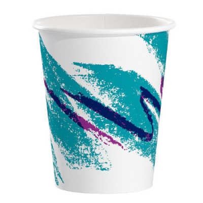Solo 370JZ-00055 10 oz Paper Hot Cups, Poly-Lined, Jazz - 1000 / Case