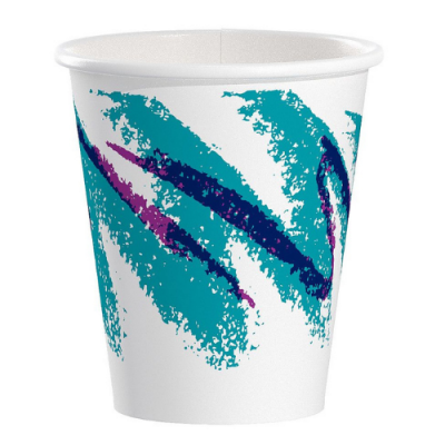 Solo 376JZ-00055 6 oz Paper Hot Cups, Poly-Lined, Jazz - 1000 / Case