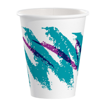Solo 378JZ-00055 8 oz Paper Hot Cups, Poly-Lined, Jazz - 1000 / Case