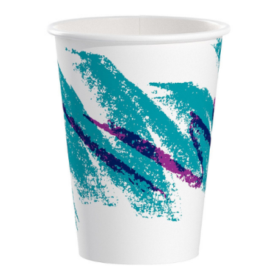 Solo 412JZ-0005 12 oz Paper Hot Cups, Poly-Lined, Jazz - 1000 / Case