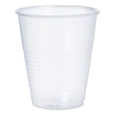 Dart Y12S 12 oz Squat Conex Galaxy Plastic Cold Cups, Polystyrene, Translucent - 1000 / Case