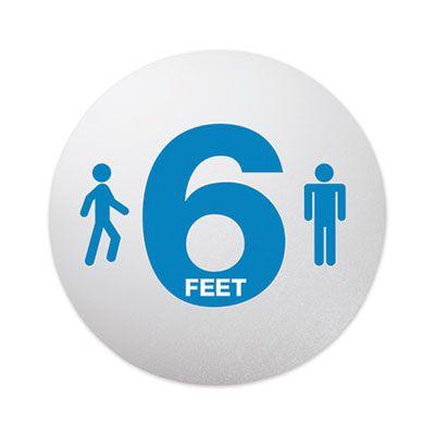 "Social Distancing Reminder Floor Signs, 20"" - 6 / Case"