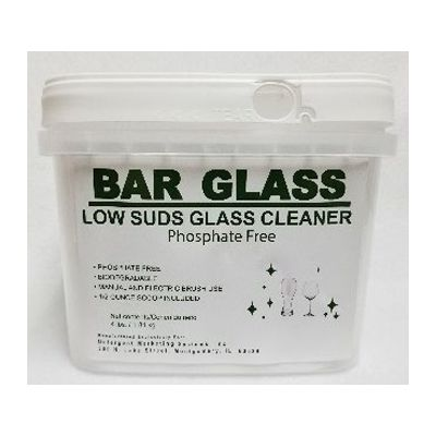 Detergent Marketing 6797 Bar Glass Low Suds Glass Cleaner, Manual or Electric, 4 lb Tub - 2 / Case
