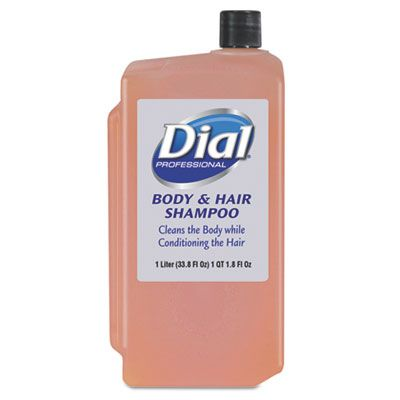 Dial 4029 Body & Hair Shampoo, 1000 ml Refill, Peach - 8 / Case