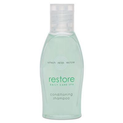 Transmacro Amenities 06026 Dial Restore Conditioning Shampoo, Aloe, Clean Scent, 1 oz Bottle - 288 / Case