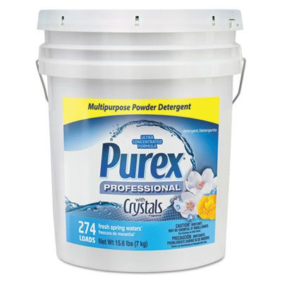 Dial 6355 Purex Ultra Concentrated Powder Laundry Detergent, Fresh Spring Water Scent, 15.6 lb Pail - 1 / Case