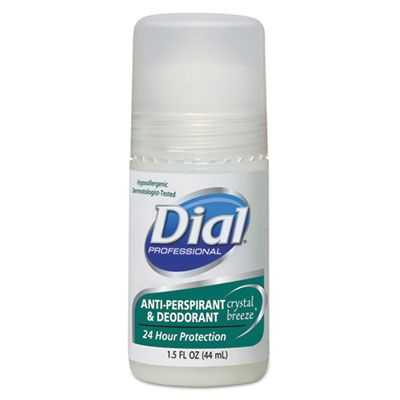 Dial 07686 Anti-Perspirant Deodorant, Crystal Breeze, 1.5 oz Roll-On - 48 / Case