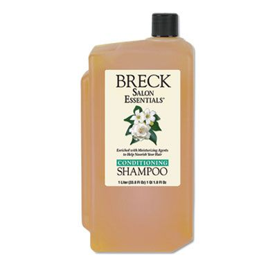 Dial 10002 Breck Shampoo / Conditioner, Pleasant Scent, 1 Liter Bottle - 8 / Case