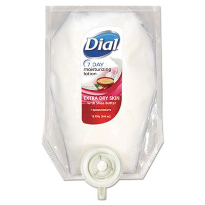 Dial 12260 Extra Dry 7-Day Moisturizing Lotion with Shea Butter, Floral, 15 oz Refill - 6 / Case