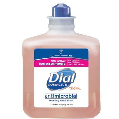 Dial 162 Complete Antibacterial Foaming Hand Soap, 1000 ml Refill, Orange - 6 / Case
