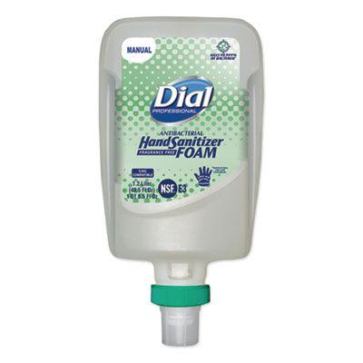 Dial 19038 Antibacterial Hand Sanitizer Foam, Fragrance Free, 1200 mL FIT Manual Refill - 3 / Case