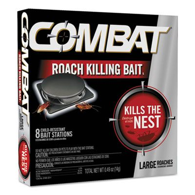 Dial 41913 Combat Source Kill Large Roach Killing Bait System, Child-Resistant Disc - 96 / Case