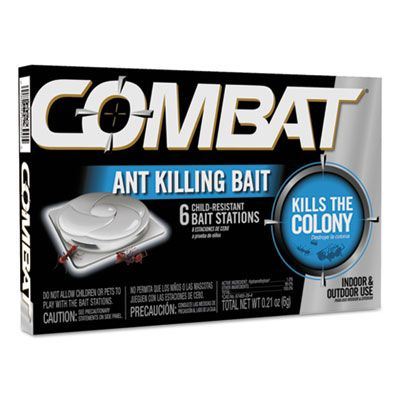 Dial 45901 Combat Ant Bait Station Insectiside, 0.21 oz - 72 / Case