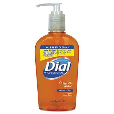 Dial 84014 Professional Gold Antimicrobial Hand Soap, Floral Scent, 7.5 oz Pump Bottle - 12 / Case