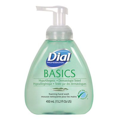 Dial 98609 Basics Hypoallergenic Foaming Hand Soap, 15.2 oz Pump Bottle - 4 / Case