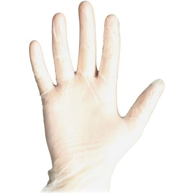 DiversaMed 8607L Medical Exam Gloves, Vinyl, Powder-Free, Large, Clear - 100 / Case