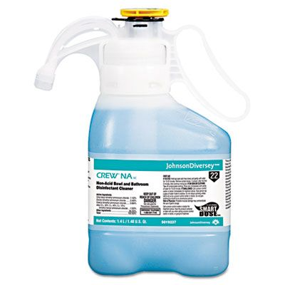 Diversey 5019237 Crew NA Non-Acid Bowl & Bathroom Disinfectant Cleaner, 1.4 Liter - 2 / Case