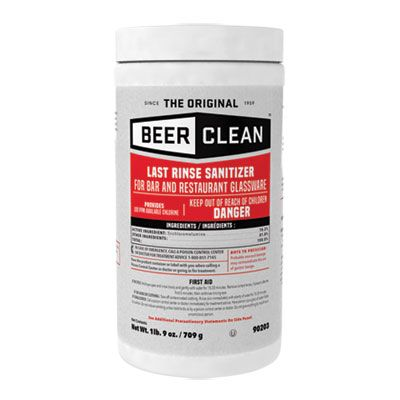 Diversey 90203 Beer Clean Last Rinse Glass Sanitizer Powder, 25 oz Container - 2 / Case