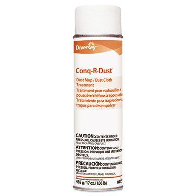Diversey 904751 Conq-R-Dust Dust Mop / Dust Cloth Treatment, Amine Scent, 17 oz Aerosol - 12 / Case