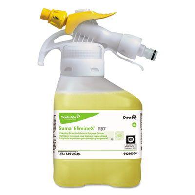 Diversey 94266308 Suma ElimineX D3.1 Drain Cleaner, Liquid, 50.7 oz - 2 / Case