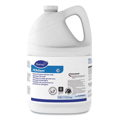 Diversey 94998841 PERdiem Concentrated General Purpose Cleaner with Hydrogen Peroxide, 1 Gallon Bottle - 4 / Case