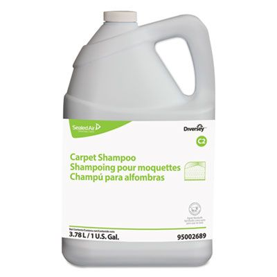 Diversey 95002689 Carpet Shampoo, Floral Scent, 1 Gallon Bottle - 4 / Case
