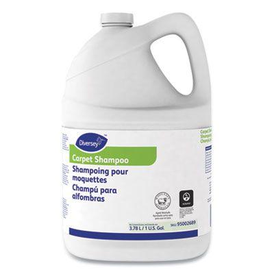 Diversey 95002689 Carpet Shampoo, Floral Scent, 1 Gallon Bottle - 4 / Case