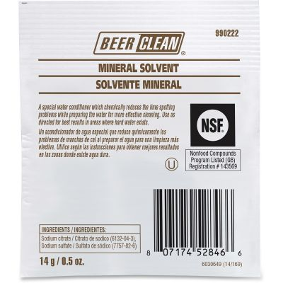 Diversey 990222  Beer Clean Mineral Solvent, 0.5 oz Packet - 100 / Case
