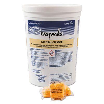 Diversey 990653 Neutral Floor Cleaner / Degreaser Powder, 0.5 oz Easy Paks Packet - 180 / Case