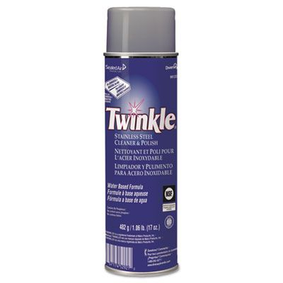 Diversey 991224 Twinkle Stainless Steel Cleaner & Metal Polish, 17 oz Spray Can - 12 / Case