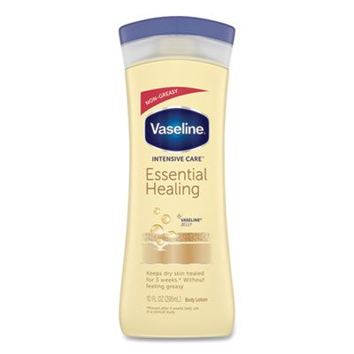 Diversey CB077007 Vaseline Intensive Care Essential Healing Body Lotion with Vitamin E, 10 oz Bottle - 6 / Case