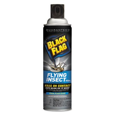 Diversey CB110766 Black Flag Flying Insect Killer 3, Fresh Scent, 18 oz Aerosol - 12 / Case