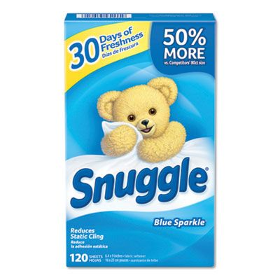 Diversey 45115 Snuggle Fabric Softener Sheets, Fresh Scent - 720 / Case
