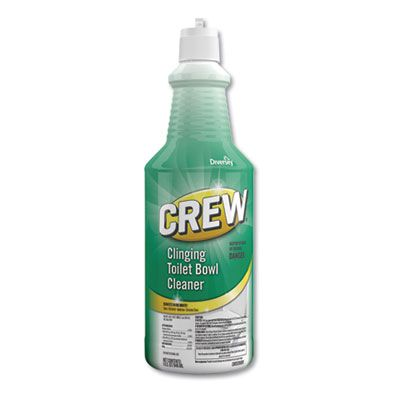 Diversey CBD539698 Crew Clinging Toilet Bowl Cleaner, Fresh Scent, 32 oz Squeeze Bottle - 6 / Case