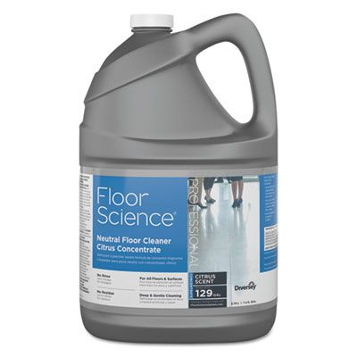 Diversey CBD540441 Floor Science Neutral Floor Cleaner Concentrate, 1 Gallon - 4 / Case