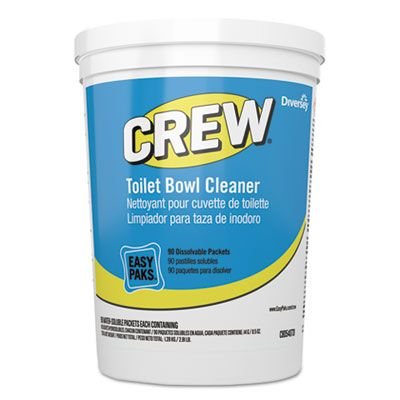 Diversey CBD540731 Crew Toilet Bowl / Restroom Cleaner, Easy Paks Packet - 180 / Case