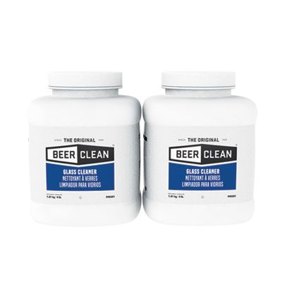 Diversey 990201 Beer Clean Glass Cleaner Powder, Unscented, 4 Lb Container - 2 / Case