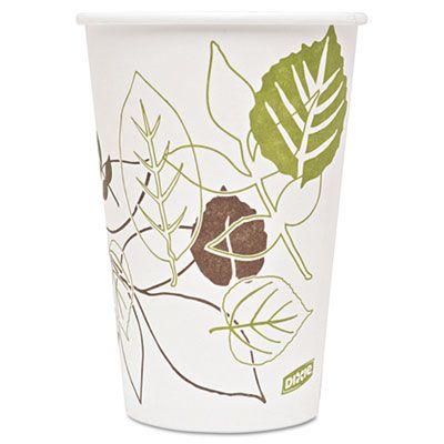 Dixie 2346PATH 16 oz Pathways Paper Hot Cups - 1000 / Case