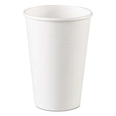 Dixie 2346W 16 oz Paper Hot Cups, White - 1000 / Case