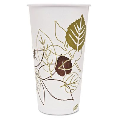 Dixie 328PPATH 32 oz Pathways Paper Cold Cups, Polycoated - 600 / Case